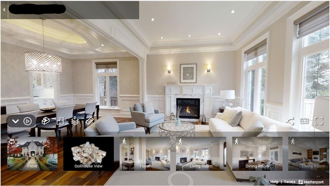 Materport 3D Virtual Tour Living Room